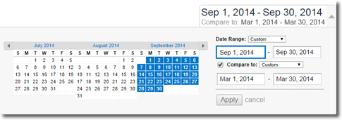compare date ranges