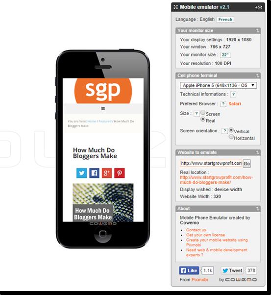 mobilephoneemulator screencap